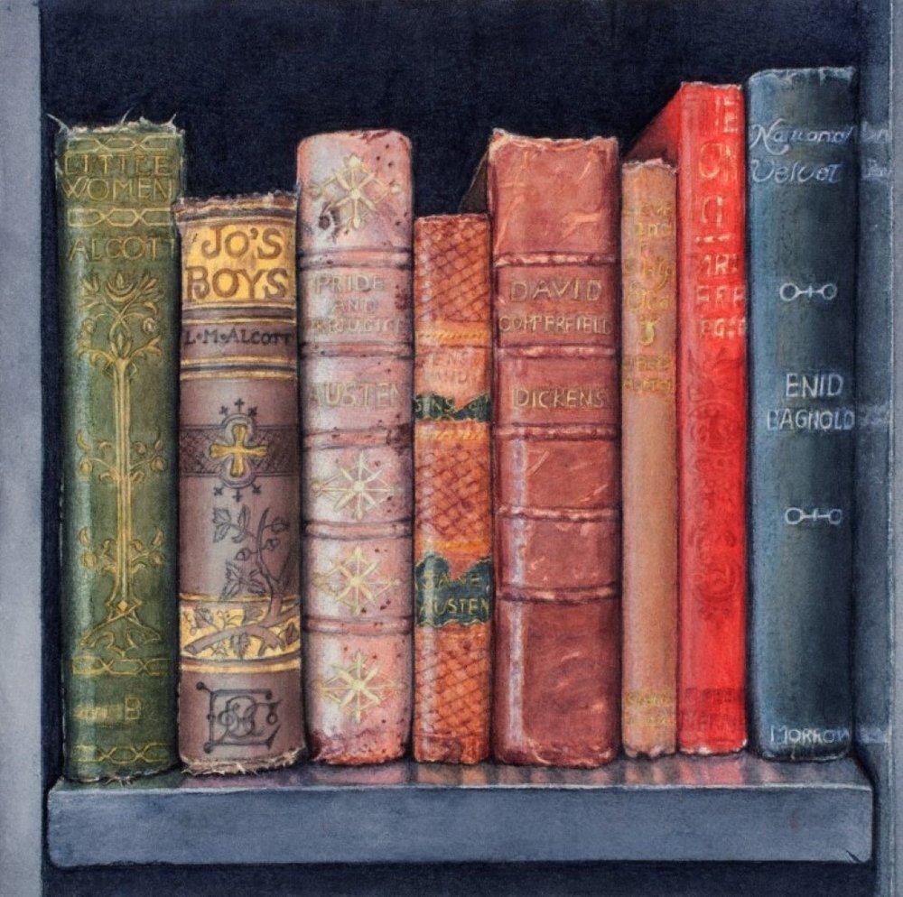 Arline Mann Title: Dream Books Size: 12 x 12 Price: $1500