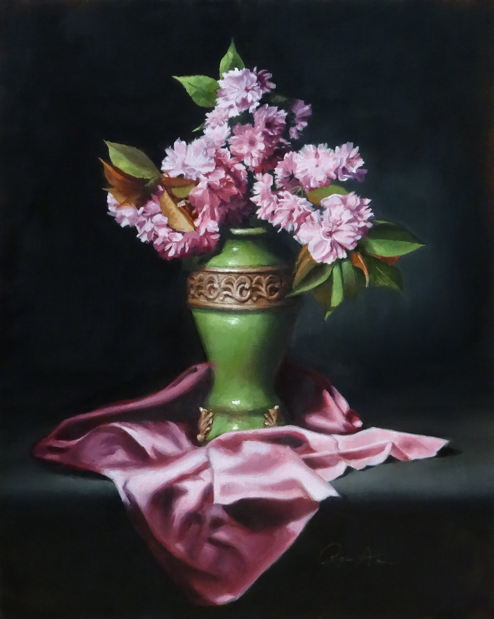Rose Ann Bernatovich Title: Cherry Blossoms Size: 20 x 16 x .25 Price: $1200