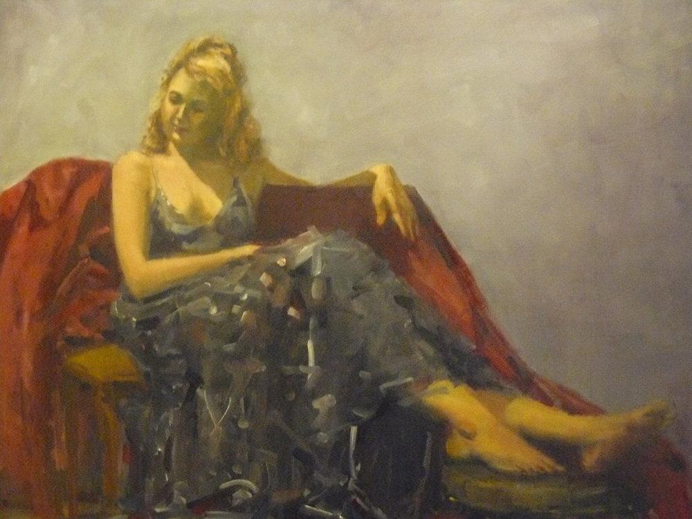 "Maria Halkiad Title: ""Celebrate"" Size: 24 x 36 x 1 Price: $3500"