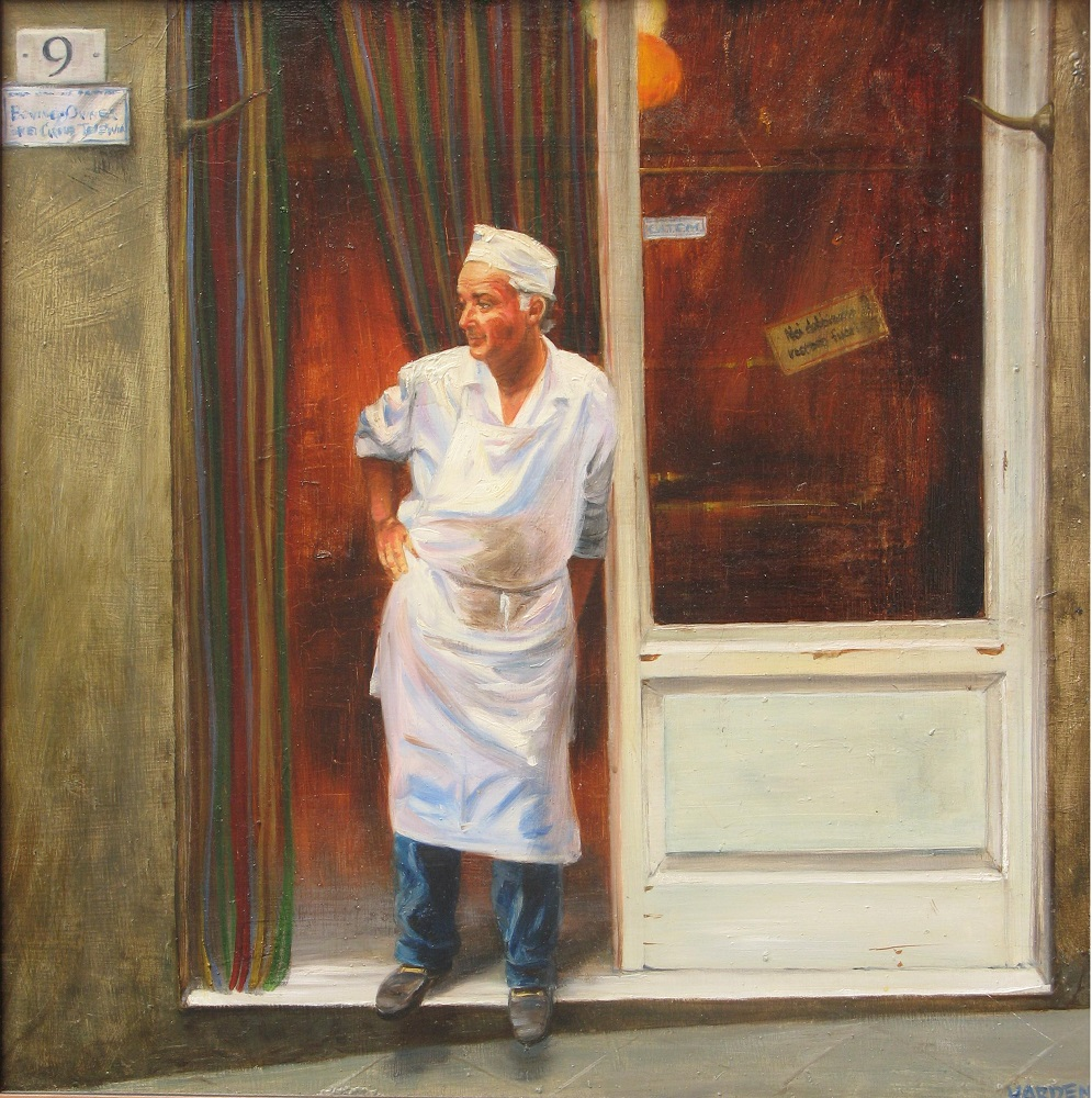 Laurie Harden Title: Buon Appetito Size: 24 x 24 x .5 Price: $2400