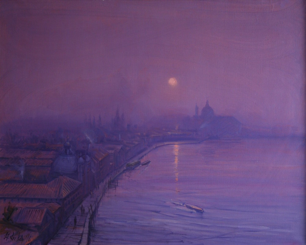Geoffrey Leckie Title: Sunset, November, Giudecca Canal Size: 31 x 39 Price: $11000
