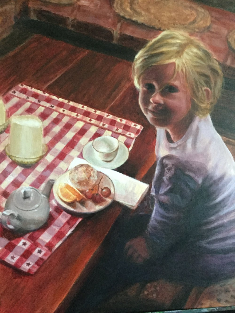 Diana Licon Title: Tea Party  Size: 24 x 18 x 3 Price: $675