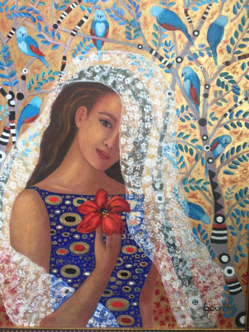 Greta Lood Title: Lora Size: 28 x 22 Price: $4000