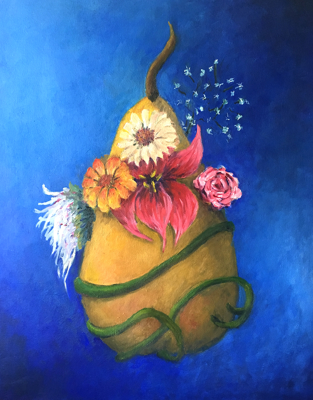 Marie-Louise McHugh Title: Flower Power Size: 20 x 16 Price: $650