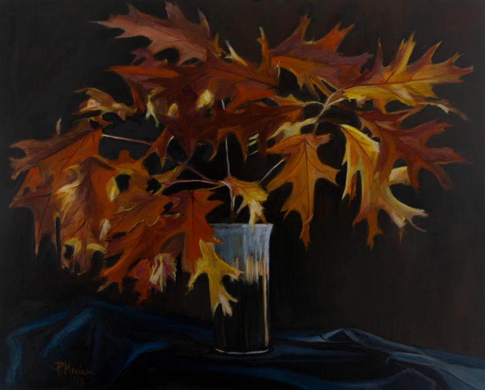 Patricia Meriam Title: Oak Leaves Size: 20 x 24 x .67 Price: $2160