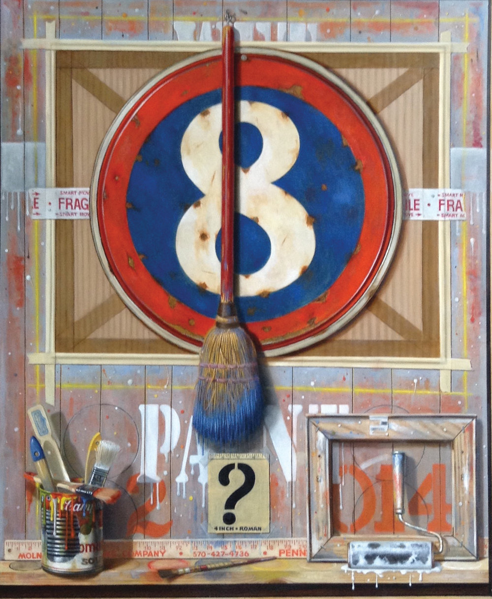 Michael Molnar Title: Number Eight Size: 48 x 38 x 3 Price: $25000