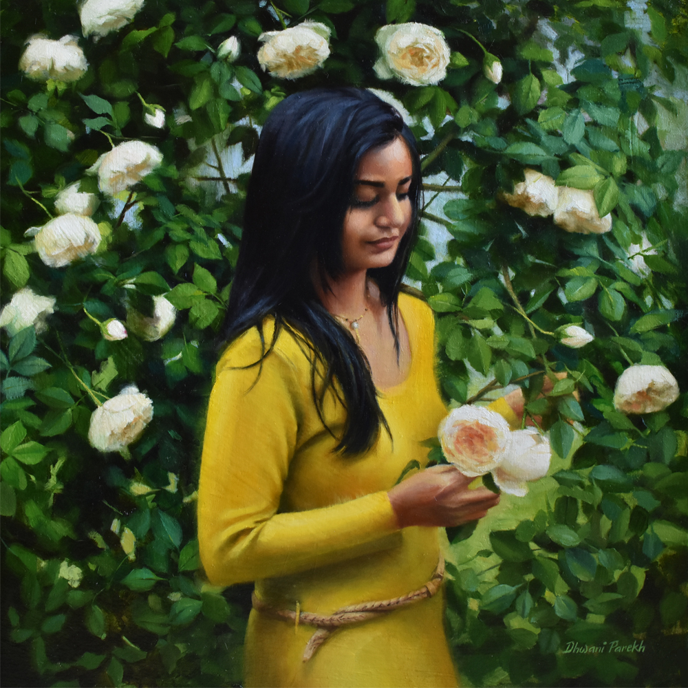Dhwani Parekh Title: Nature's Hug Size: 19 x 19 x 2 Price: $5400