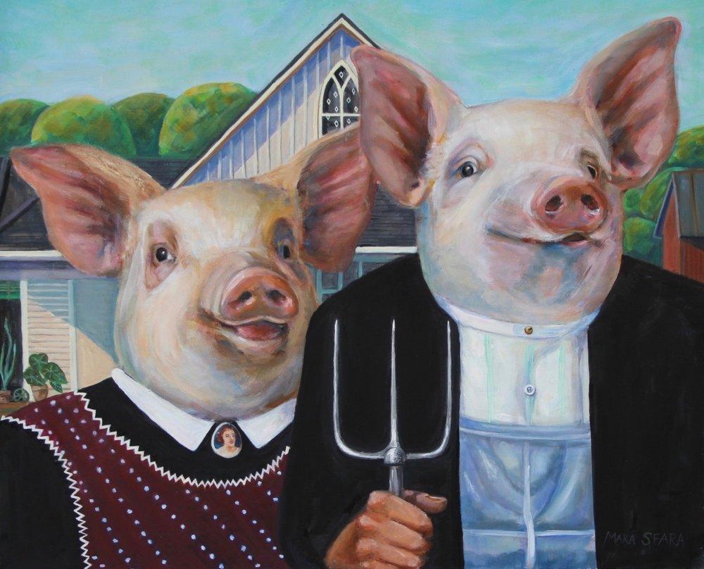 Mara Sfara Title: American Piglets  Size: x x  Price: $4000