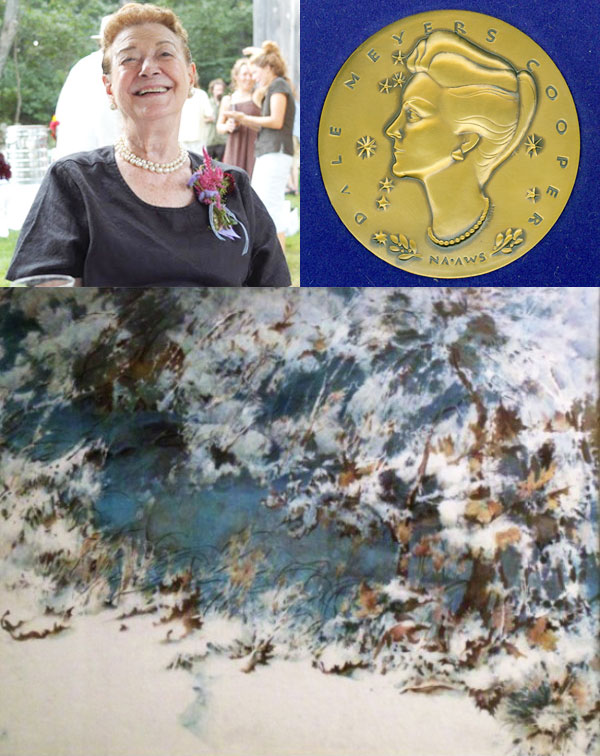 Clockwise from top: Dale Meyers, Dale Meyers Medal, Landscape Watercolor