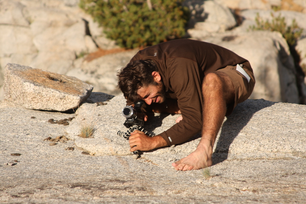 Shooting in Lyell Canon along the 220 mile John Muir Trail.
