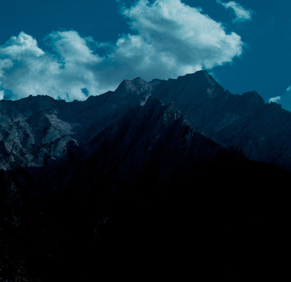 Ridge of Mountains, Sierra Nevada Range, California.
