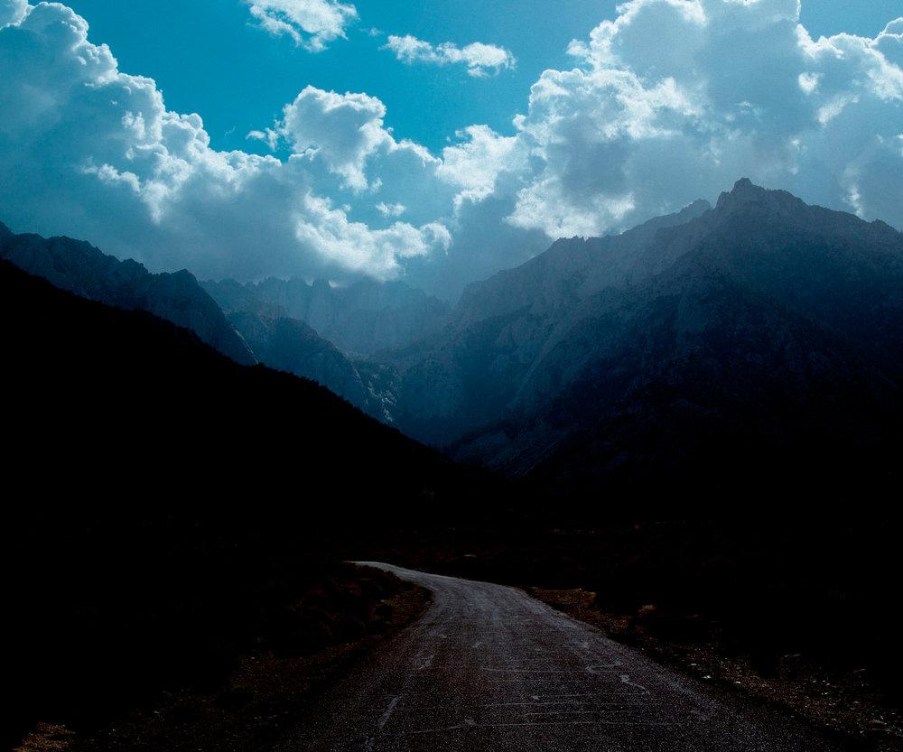 Road Into The Mountains, Sierra Nevada Range, California.