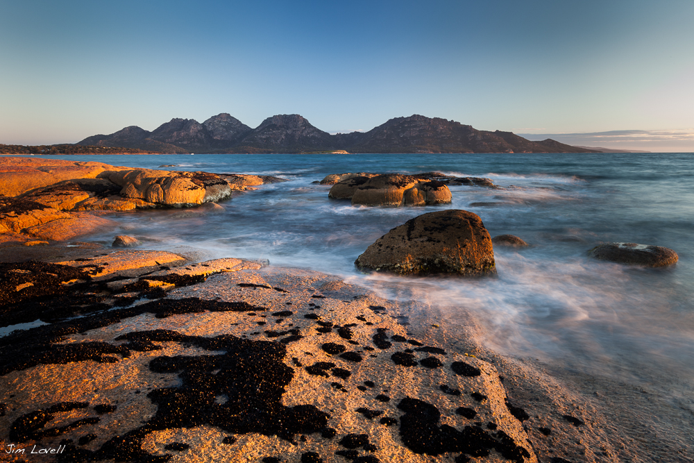 The Hazards at Sunset, Freycinet National Park, Tasmania