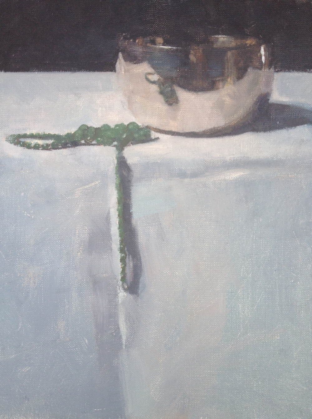 Singing Bowl, oil on linen, 29.8 cm x 25 cm