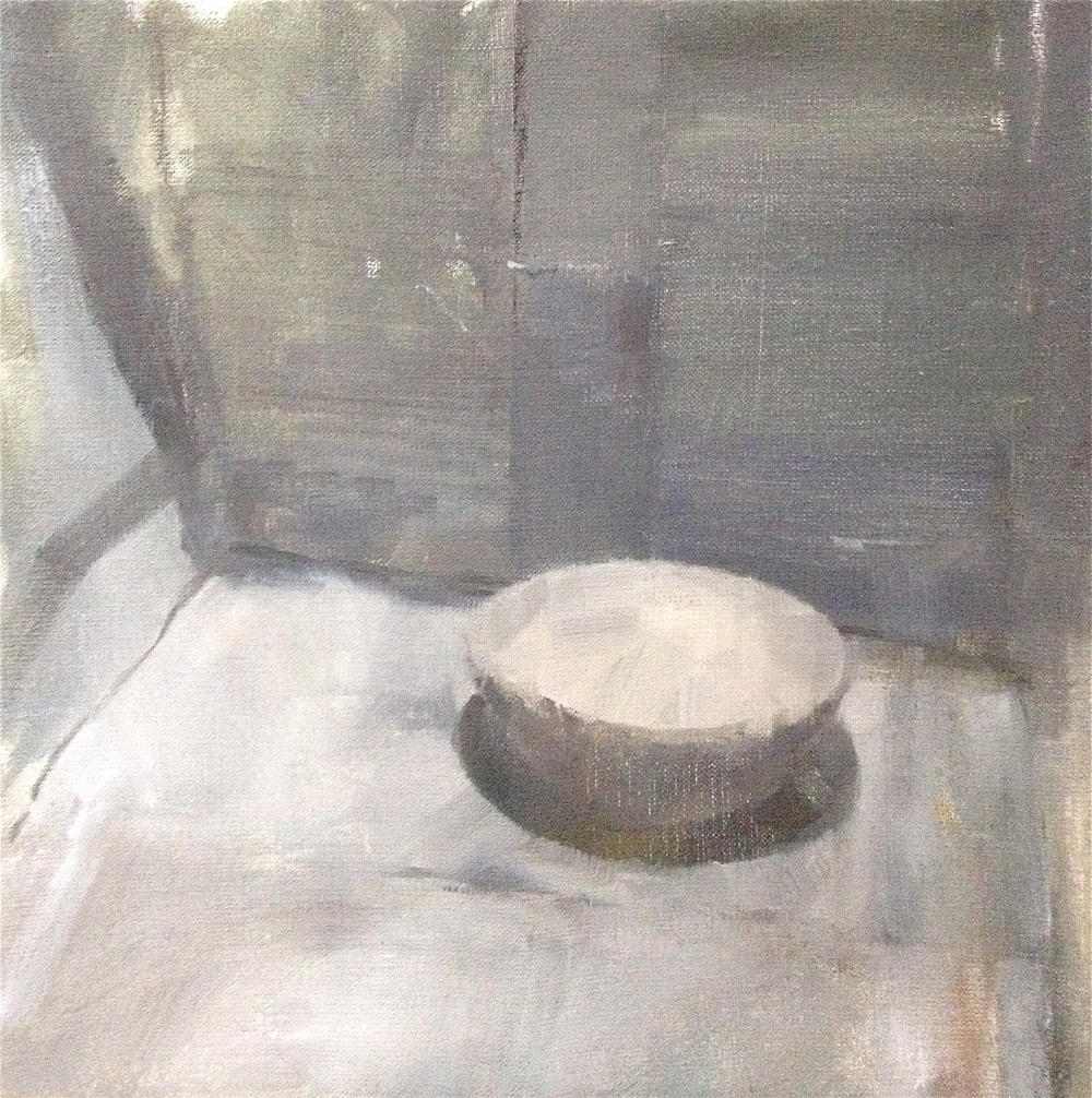 Shadowed Bowl, oil on linen, 35 cm x 35 cm