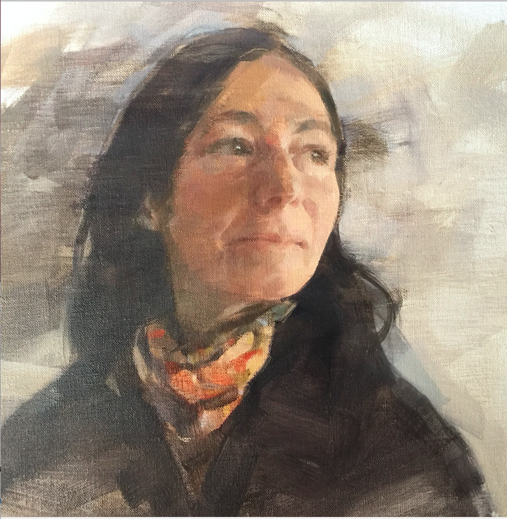 'Caroline, selected for Royal Society of Portrait Painters 2017