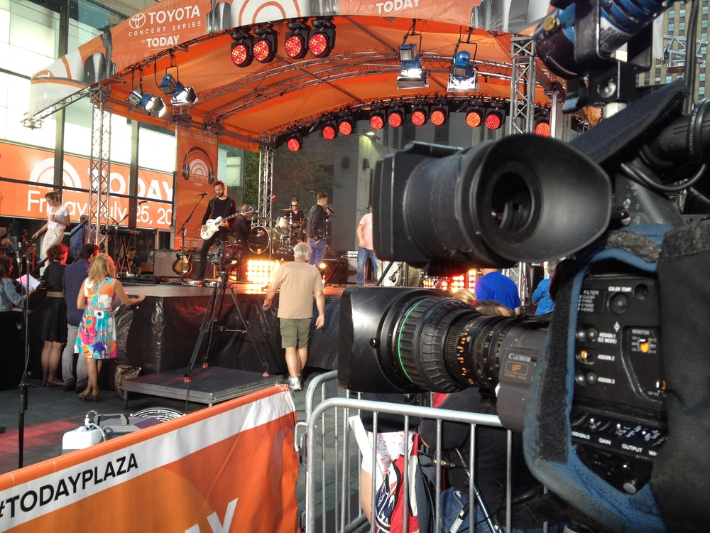 "Marty at the ""today show"" in july, 2014."
