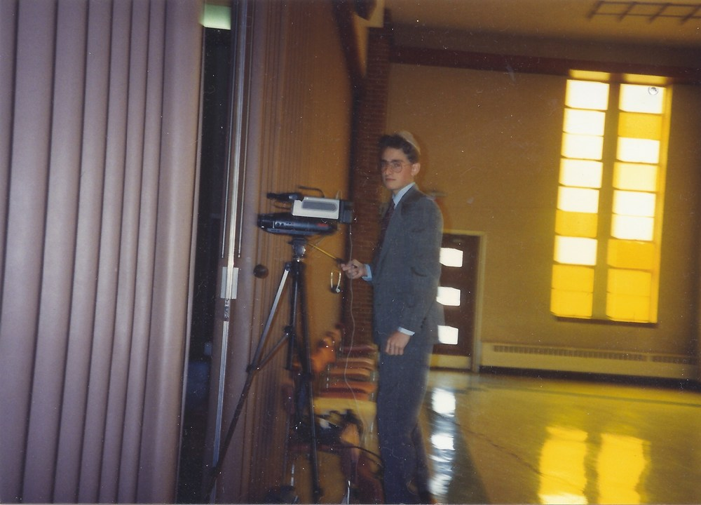 marty at his first video job in 1990, recording a friends bat mitzvah.