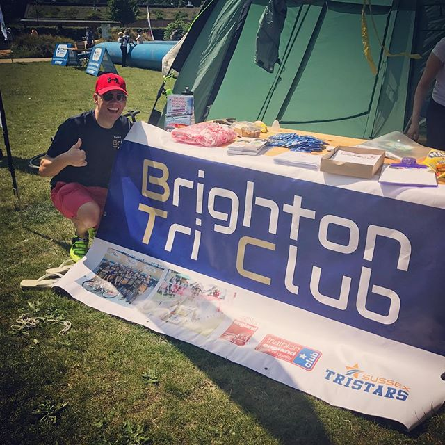 We're down at the Level for Brighton's #takepartfestival w/ @brittri & @yourgotri - come and find us! 🙌🏼 You'll easily spot us thanks to our new sign from club member @daddycool1971 👌🏼⭐️ #takepart #gotri #giveitago #triathlon #swimbikerun #brighton