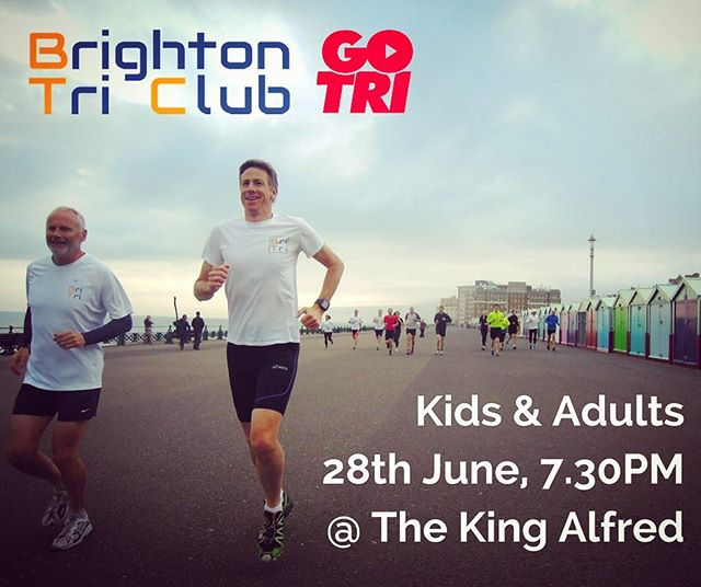 Our @yourgotri debut at @freedomleisure_brightonhove King Alfred is tomorrow! Want to #takepart? Follow link in bio to register.  #takepartfestival #gotri #aquathlon #midweektri #brighton #hove #seafront #swimrun #swim #run #multisport