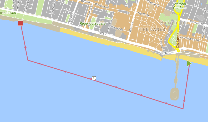 Please note, this is a estimate of the swim Route, the course on the day may differ from this due to weather, tides and other safety considerations.