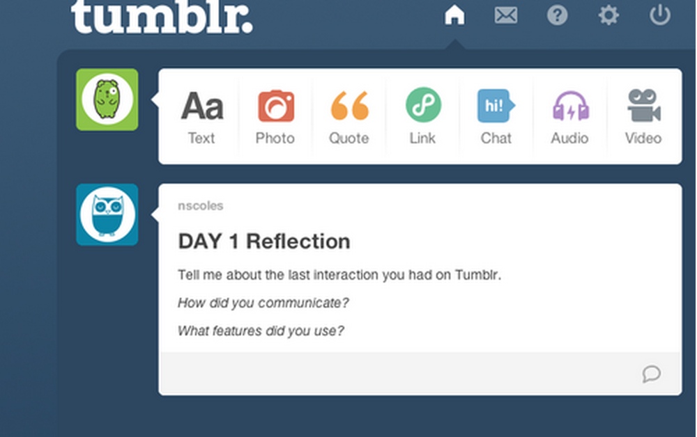 I led a design research study to explore user engagement around Tumblr through an online diary study, semi-structured interviews, and usability testing.