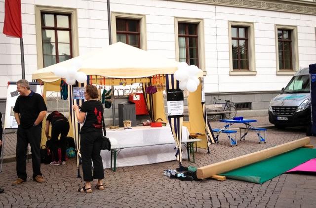 Infostand auf dem Schlossplatz