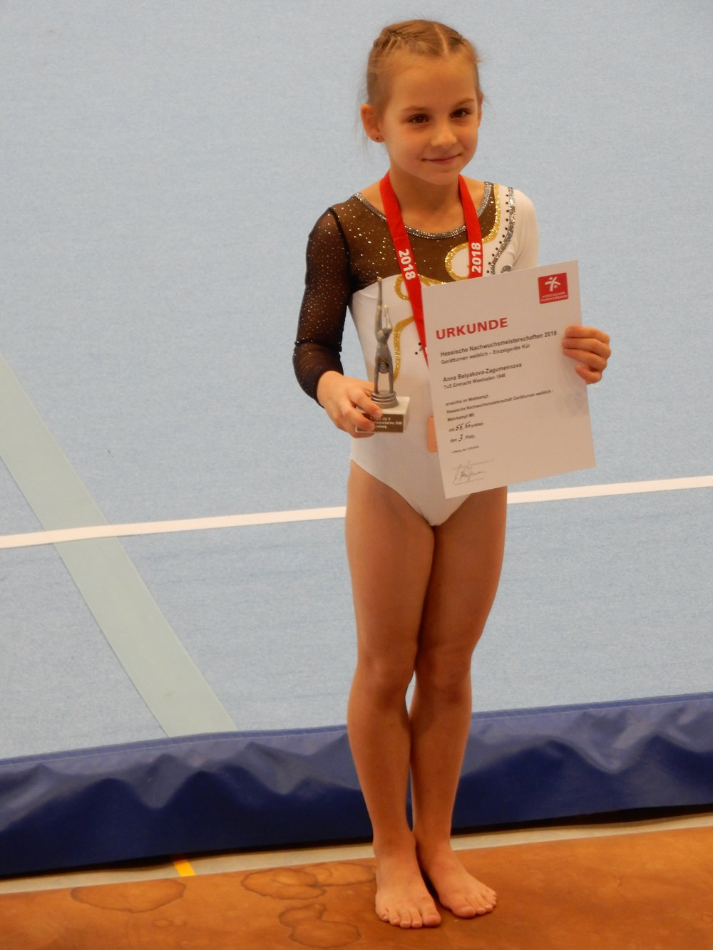 Anna Belyakova-Zagumennova, Bronze bei den hessischen Meisterschaften Mehrkampf AK9, 2018