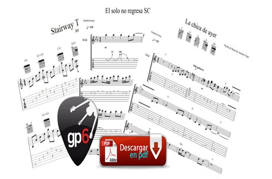 Si te gustan los TABS...tenemos una sorpresa. Aquí encontrarás solos de canciones, ejercicios de arpegios, canciones completas... Podrás descargar el PDF, al audio en MP3 y el archivo de Guitar Pro para pdoder practicarlas!