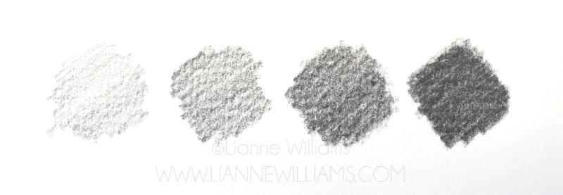 layered graphite pencil