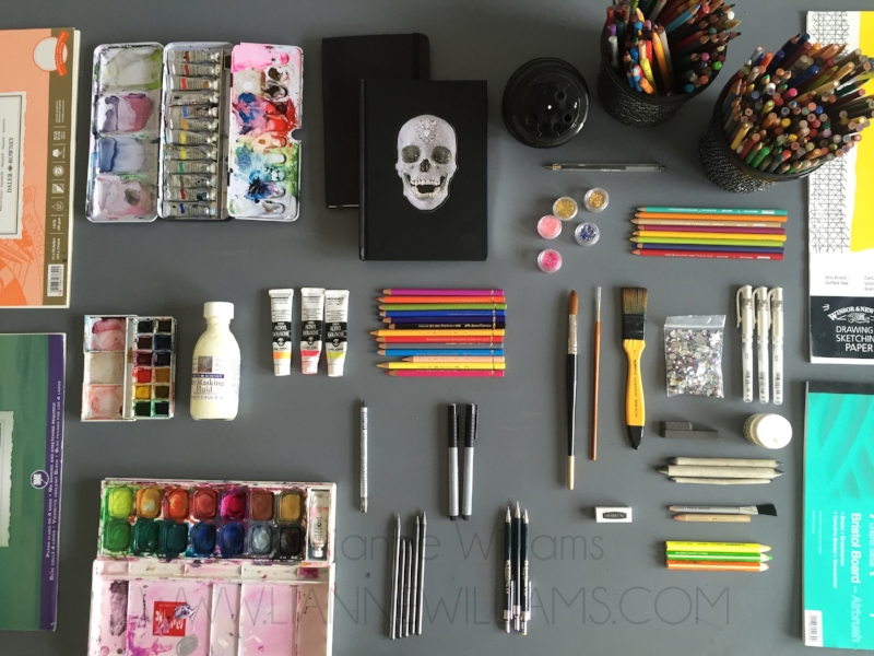 my art tools and materials