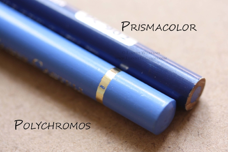 The design features of Prismacolor and Polychromos colour pencil casing