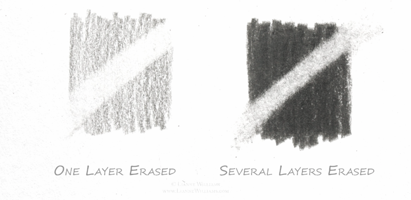 Colour Pencil Technique Erasing