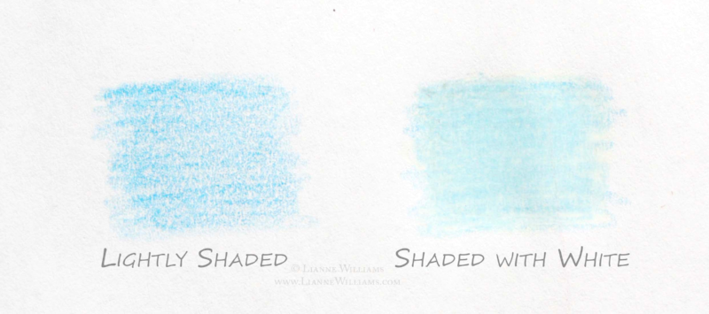 Using the white colour pencil