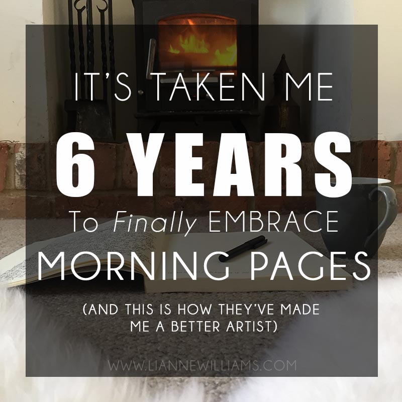 how i embraced morning pages after 6 years and they made me a better artist