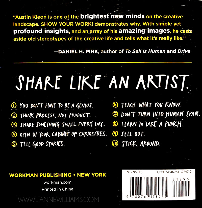show your work by austin kleon back cover