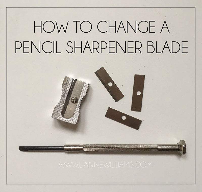 how to change a pencil sharpener blade