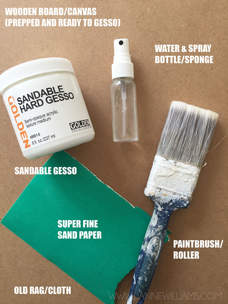 What you need for porcelain smooth gesso
