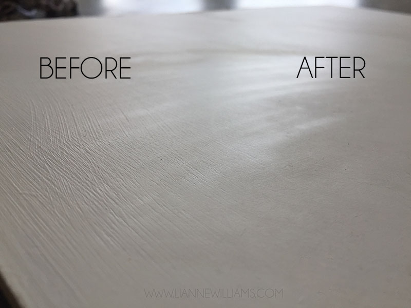 Gesso rough and smooth, before and after wet sanding