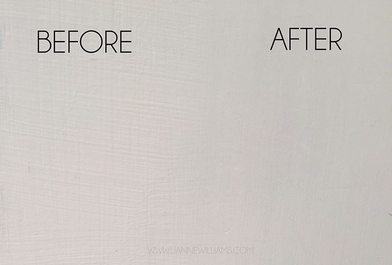 gesso before and after