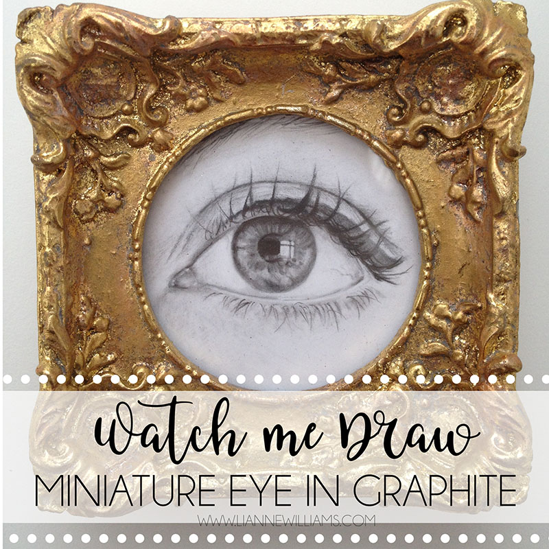 TIME LAPSE VIDEO DRAWING MINIATURE PHOTOREALISTIC GRAPHITE EYE BY LIANNE WILLIAMS.jpg