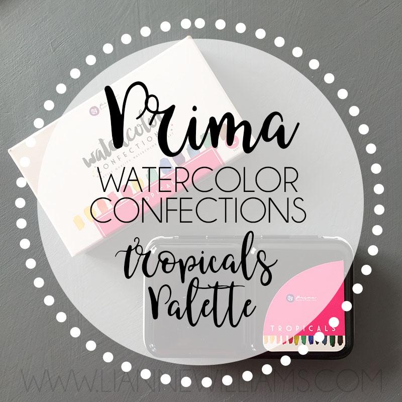 Prima watercolor confections tropicals palette