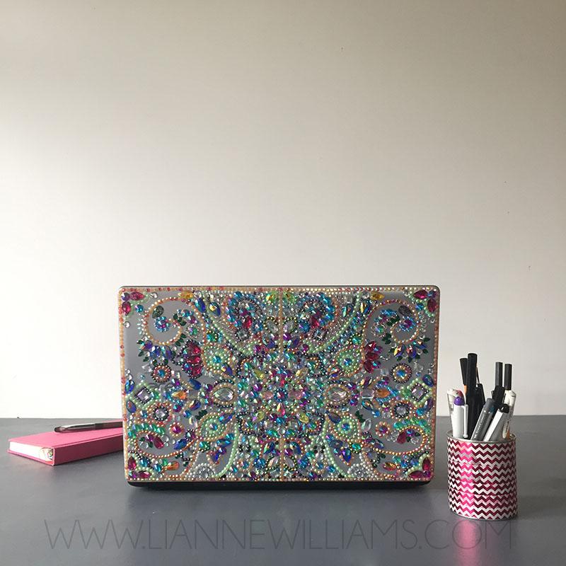 Rhinestone covered sparkly laptop 7.jpg