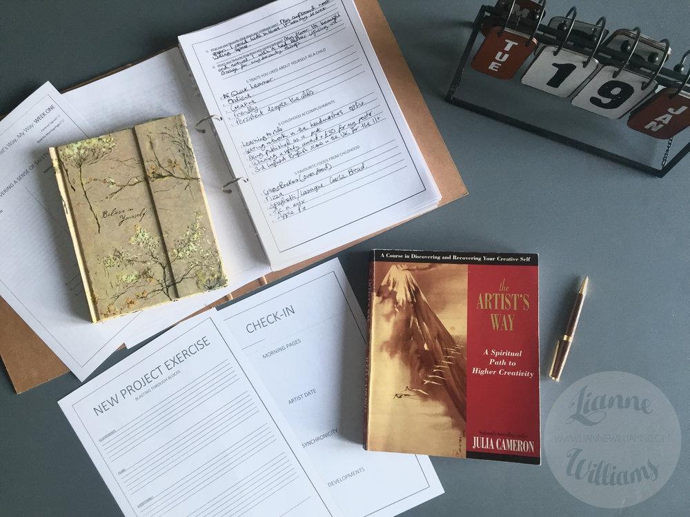 The Artist's Way weekly task worksheets.jpg