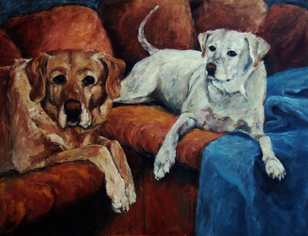 "Molly and Barlie Oil on Board 24 x 32"" Click on the image to view this in high res in Picasa"