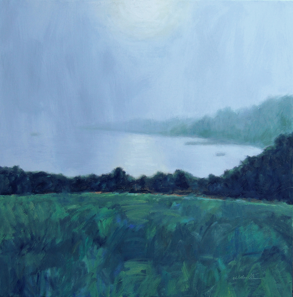 "Fog on the Cove 36 x 36"" Oil on Canvas"