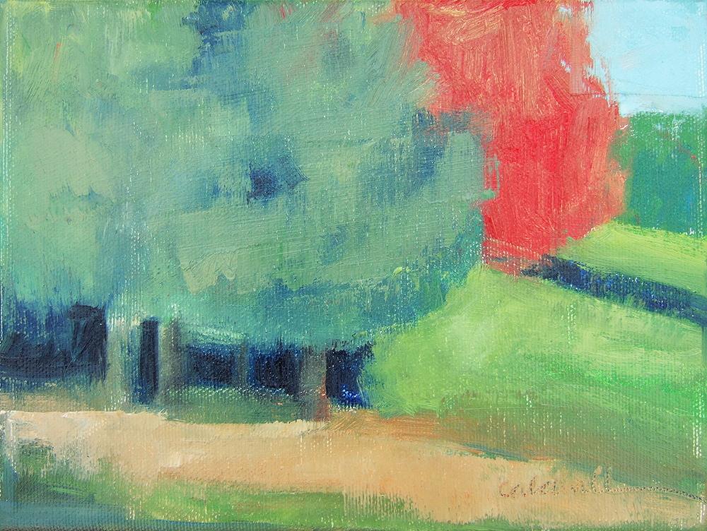 "oil on canvas 6 x 8"""