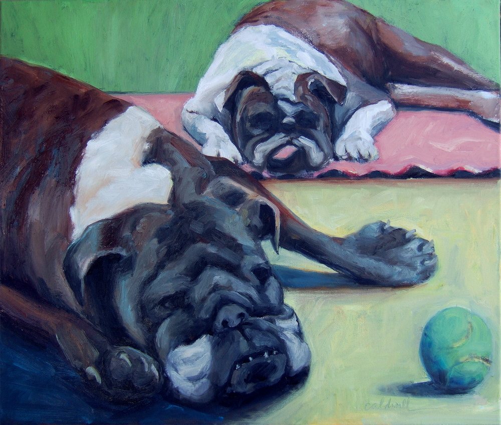 Mama and Chloey oil on canvas 20 x 24""