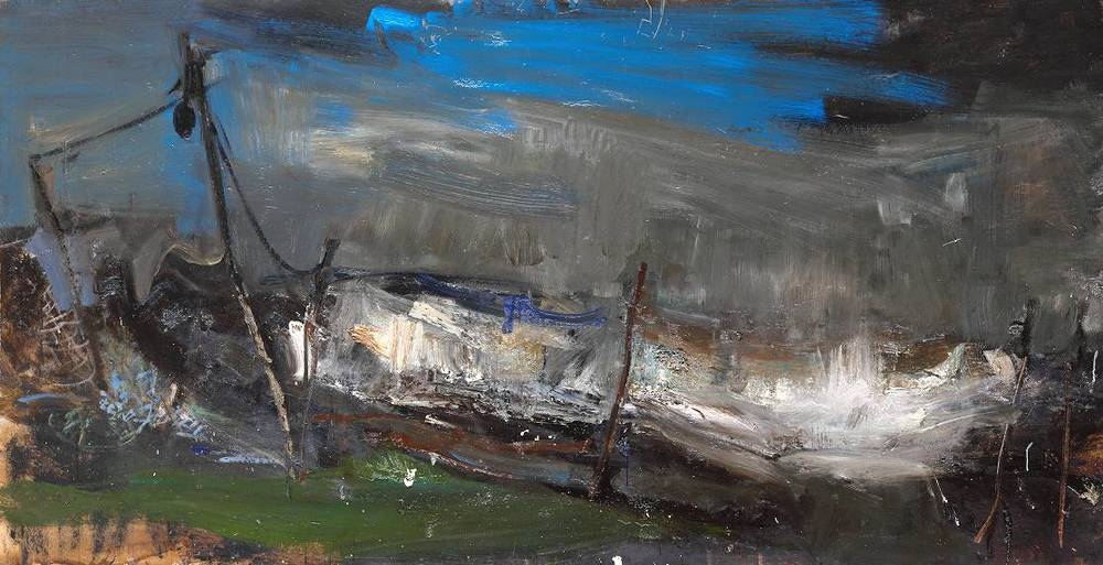 Joan Eardley (again) - a favorite bold, risk taker. She was taken with cancer at a young age and succumbed at 42. You can feel the urgency here.