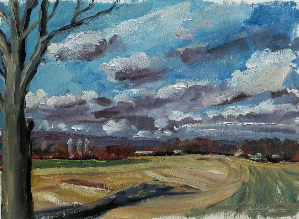 """oil/canvas 10 1/2 x 14 1/2"""" january 2016"""